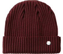 Mütze Wolle bordeaux