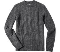 Pullover Microfaser-Mix meliert