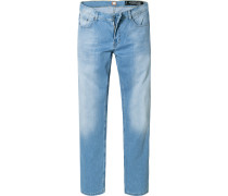 Jeans Regular Fit Baumwoll-Stretch hellblau