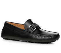 Schuhe Mokassin, Kalbleder,