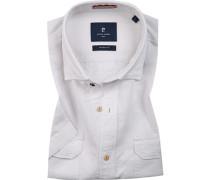 Hemd, Modern Fit, Leinen-Baumwolle