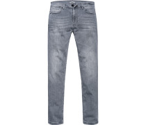 Blue-Jeans Classic Fit Baumwoll-Stretch hellgrau