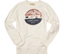 Pullover Sweater, Baumwolle, creme