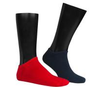 Socken Sneakersocken Baumwolle navy-rot