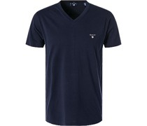T-Shirt Fitted Body Baumwolle navy