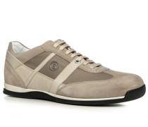 Herren Schuhe Sneaker Leder-Nylon-Mix hellbeige beige,weiß