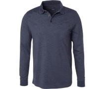 Polo-Shirt Polo, Regular Fit, Baumwoll-Jersey, navy meliert
