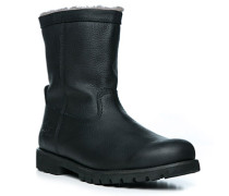 Herren Schuhe Boot Kalbleder warm gefüttert schwarz