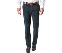 Hose Pima-Baumwoll-Stretch dunkelblau