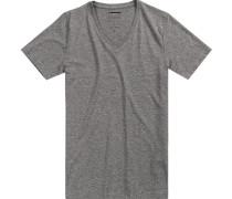 T-Shirt Baumwolle hellgrau meliert