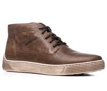Schuhe Sneaker Glattleder hellbraun