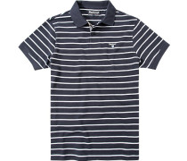 Polo-Shirt Polo Baumwoll-Piqué marine-weiß gestreift