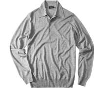 Pullover Seide-Kaschmir silbergrau
