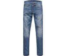 Blue-Jeans Slim Fit Baumwoll-Stretch denim