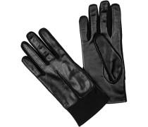 Herren Handschuhe Kontakt-Leder schwarz