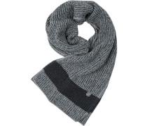 Herren Marc O´Polo Schal Baumwolle-Wolle-Mix grau-schwarz meliert