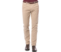 Chino-Hose, Slim Fit, Baumwolle, sand