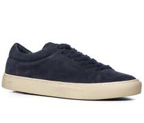 Schuhe Sneaker Veloursleder dunkelblau