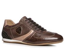 Schuhe Sneaker Leder braun