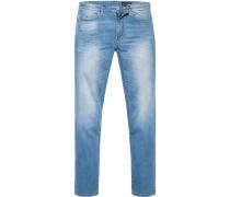 Jeans Shaped Fit Baumwoll-Stretch hellblau