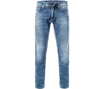 Jeans, Slim Fit, Baumwoll-Stretch 12oz, hellblau