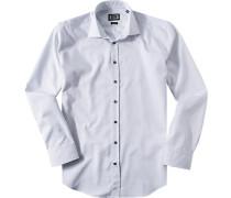 Hemd Modern Fit Baumwolle -blau gemustert