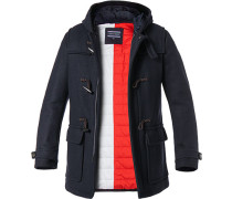 Mantel Duffle Coat, Woll-Mix, nachtblau