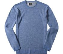Pullover Schurwolle jeansblau meliert