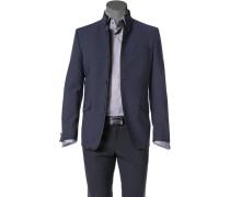 Herren Sakko Woll-Stretch nachtblau