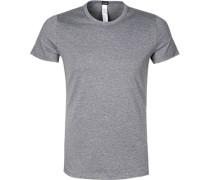 Herren T-Shirt Baumwoll-Mix grau meliert