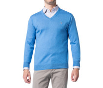 Pullover Baumwolle-Wolle himmelblau