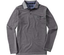 Herren Polo-Shirt Polo Baumwoll-Piqué braun meliert