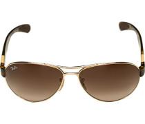 Brillen Sonnenbrille Active Lifestyle, Kunststoff, -gold