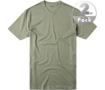 T-Shirt Regular Fit Baumwolle meliert