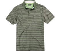 Polo-Shirt Polo, Baumwolle mercerisiert, -blau gestreift