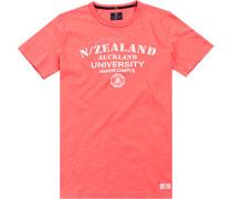 T-Shirt Baumwolle neonkoralle