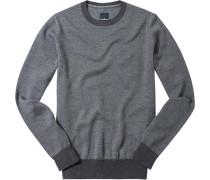Pullover Schurwolle graphit meliert