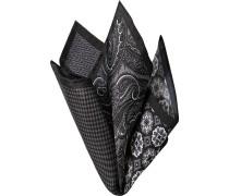 Herren Accessoires  Einstecktuch Seide schwarz-grau gemustert schwarz,grau