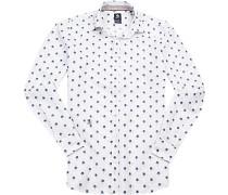 Hemd Tailored Fit Baumwolle gemustert
