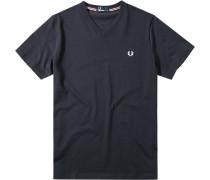 Herren T-Shirt Baumwolle nachtblau