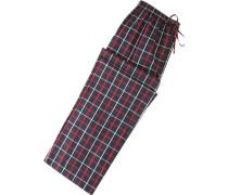 Herren Pyjama-Hose Baumwolle dunkelblau-rot kariert blau,blau,rot