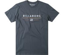 Herren T-Shirt Baumwolle graublau