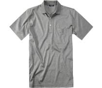 Polo-Shirt Polo, Baumwoll-Jersey, meliert