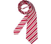 Herren Krawatte  grün,rot,weiß