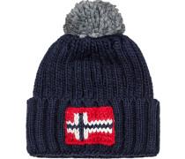 Herren   Mütze Woll-Mix marine blau