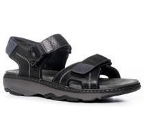 Herren Schuhe Sandalen Leder schwarzAbgleich 28.06.16bs schwarz,grau,schwarz