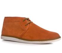 Herren Schuhe Desert Boots Veloursleder orange