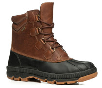 Schuhe Stiefelette Leder-Kautschuk wasserundurchlässig -schwarz