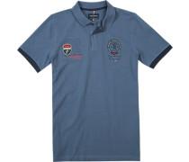 Polo-Shirt Polo Modern Fit Baumwoll-Piqué rauchblau
