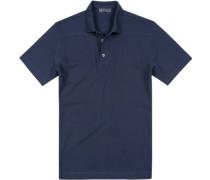 Herren Polo-Shirt Polo Baumwoll-Piqué nachtblau